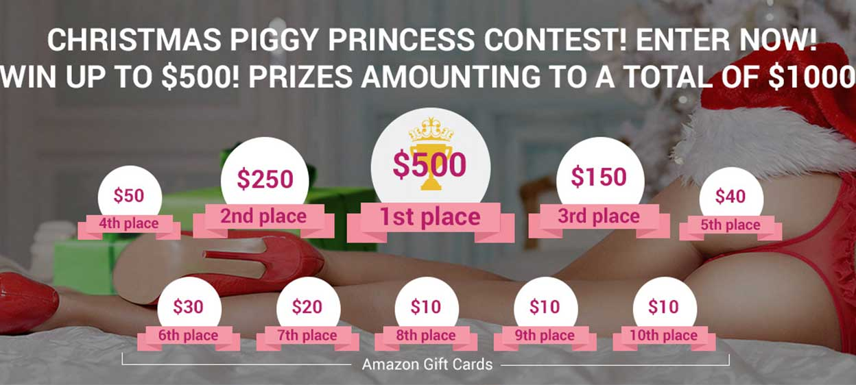 Are You Dreaming Of A Piggy Christmas? – Piggy Princess Of The Month Christmas Contest!!